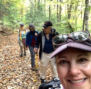 Mindy leading a Berkshire Camino hike.